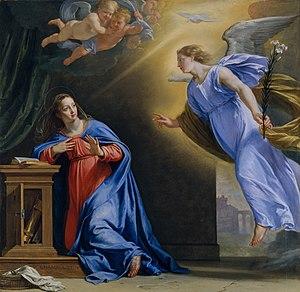 L' Annonciation, 1644, peinture de Philippe de...