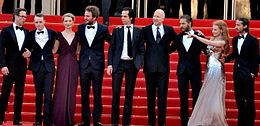 Lawless  film    Wikipedia From left  Pearce  DeHaan  Wasikowska  Clarke  Cave  Hillcoat  Hardy   Chastain  and LaBeouf at the film s 2012 Cannes Film Festival screening