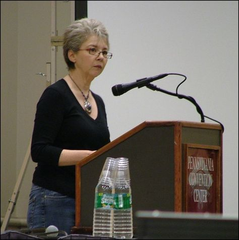 Russell at the annual conference of the American Library Association, January 2008