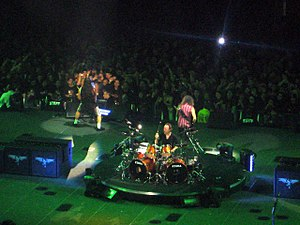 My daughter's camera. Metallica at the Forum i...