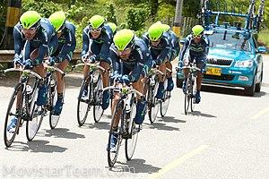 Español: Movistar Team Continental, en la cont...