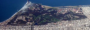 Aerial photograph of the Presidio of San Franc...