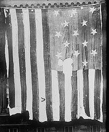 "The 15-star, 15-stripe ""Star Spangled Banner Flag"""