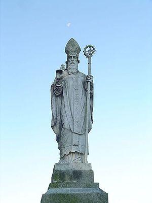 Statue of Saint Patrick at the Hill of Tara, C...