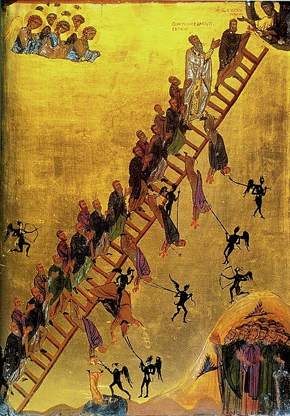 File:The Ladder of Divine Ascent Monastery of St Catherine Sinai 12th century.jpg