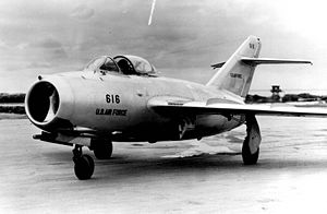 The MiG-15bis delivered by a defecting North K...