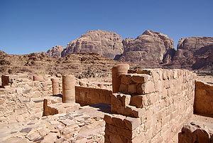 Wadi Rum, ruins of a nabataean temple