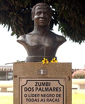 Português: Busto de Zumbi dos Palmares em Bras...