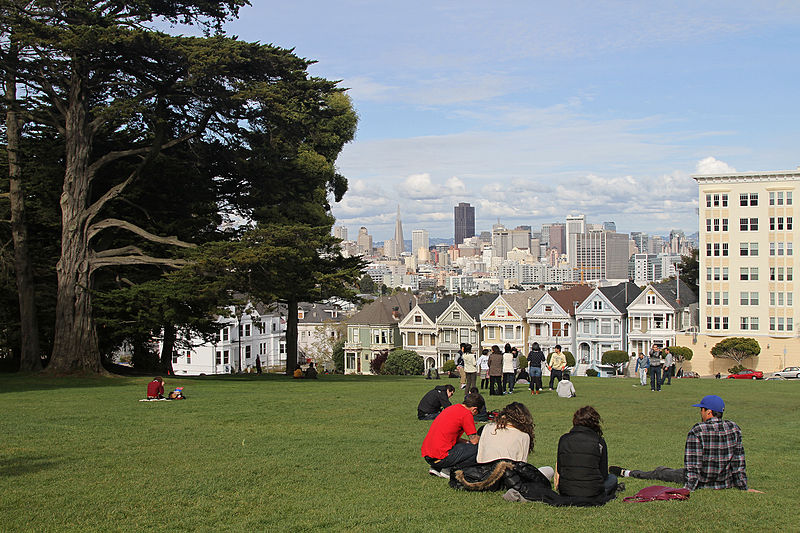 File:Alamo Square with Painted Ladies, SF, CA, jjron 26.03.2012.jpg
