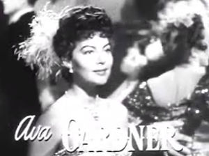 Cropped screenshot of Ava Gardner from the tra...