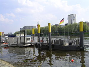Weser River in Bremen city