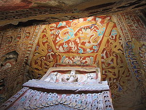 Cell murals and statues in the Yungang Grottoes
