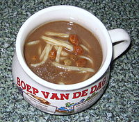 czernina, duck blood soup......in Dutch cup