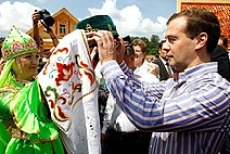 Medvedev visits the Russian Republic of Tatarstan