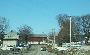 English: Looking west at East Bristol, Wiscons...