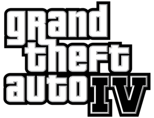 Logo used for Rockstar Games's Grand Theft IV.