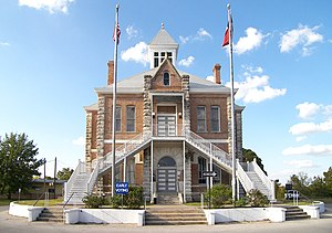 The Grimes County Courthouse located at 30.167...