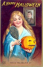 Cartel que anuncia la llegada del Halloween en 1904.