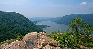 View south from Breakneck Ridge of Hudson High...