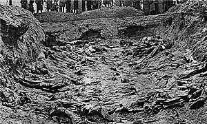One of the mass graves at Katyn.