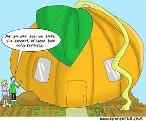 English: Local food cartoon created for Transi...