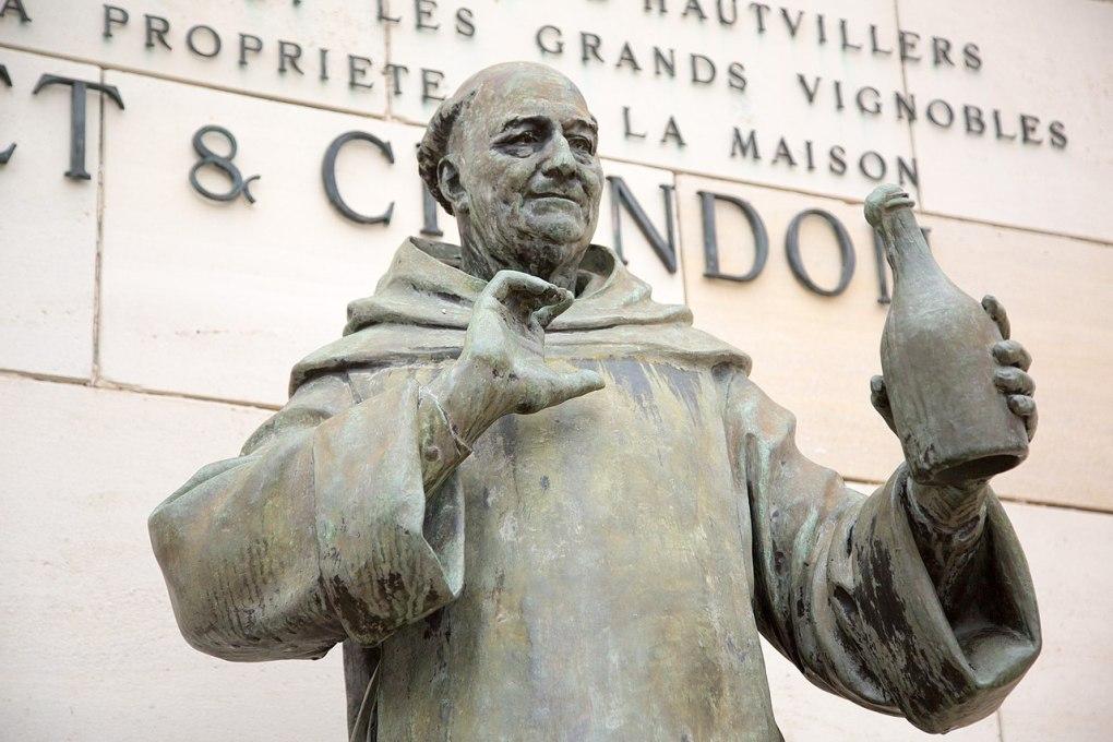 Dom Perignon Statue at Moët & Chandon