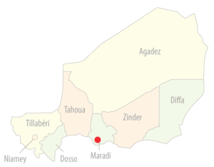 Niger cities location (Maradi)