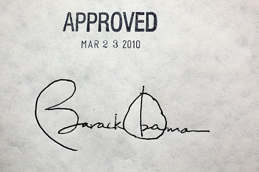 Obama healthcare signature
