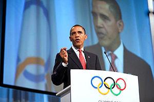 President Barack Obama speaks to promote Chica...