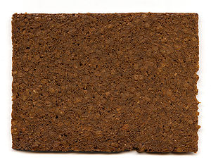 A slice of pumpernickel bread