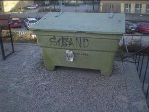 English: A swedish sand box