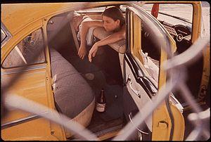 TEENAGER IN SECOND WARD, CHICANO NEIGHBORHOOD ...
