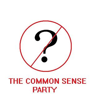the log of the political part the common sense...