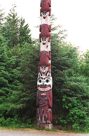 Totem pole, Saxman Totem Park