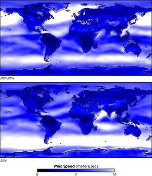Wind speed climatology
