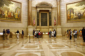 Rotunda for the charters of Freedom at Nationa...