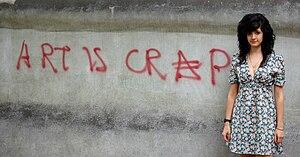 English: 'Art is Crap' - 35 x 60cm - digital p...