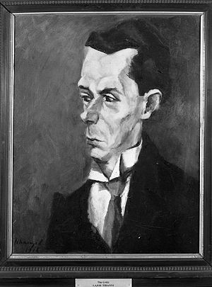 Critic by Lajos Tihanyi. Oil on canvas, c. 1916.