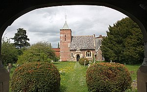 English: Canon Frome church Dedicated to St. J...