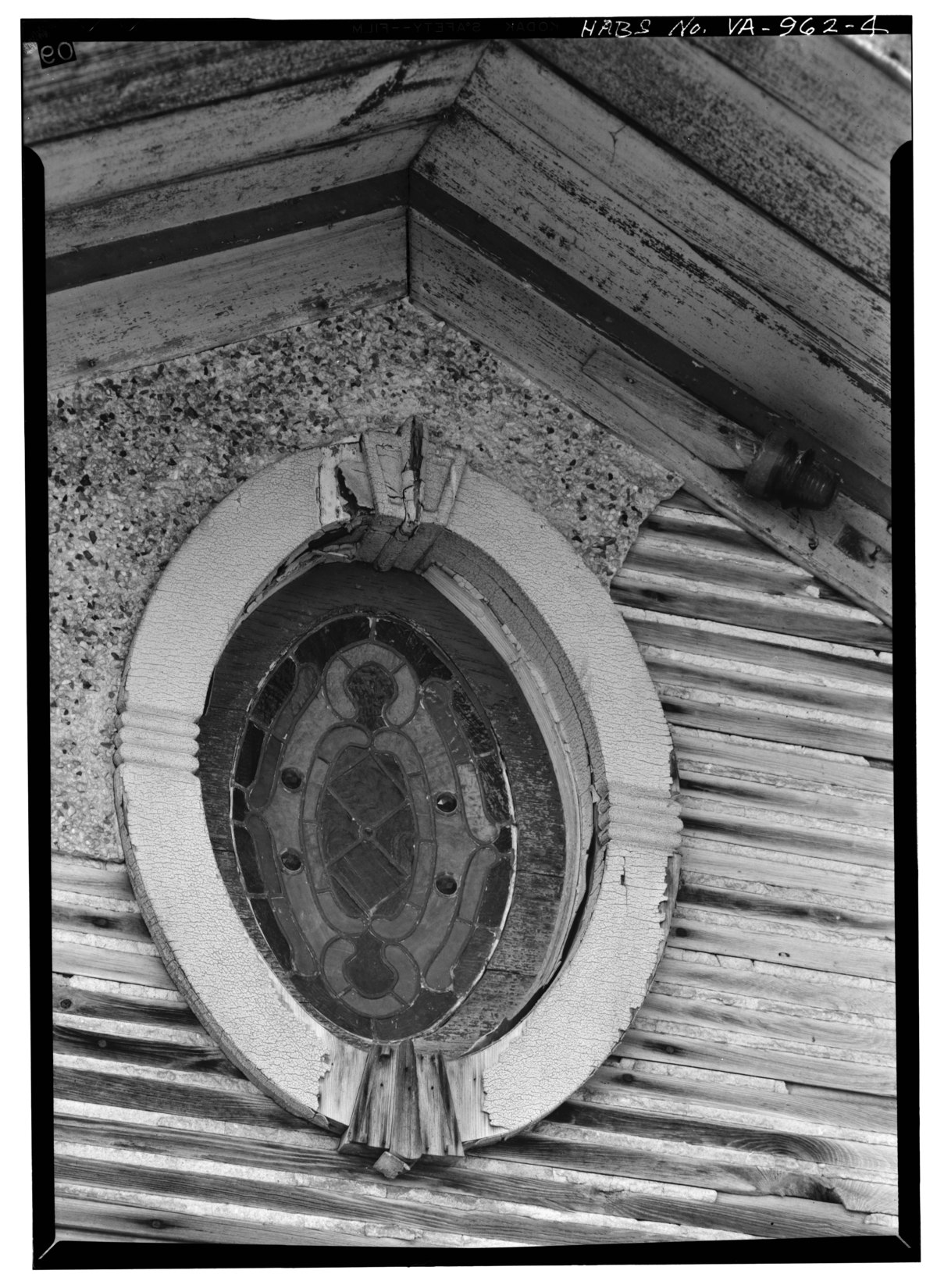 File Detail Showing Stained Glass Window In Pediment