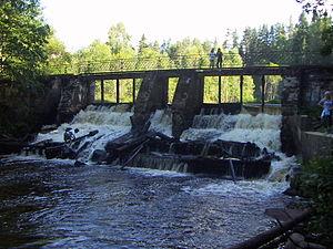 Dam at Volchaya river (Karelian Isthmus)