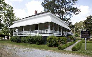 Boyhood home of Hank Williams in Georgiana, Al...