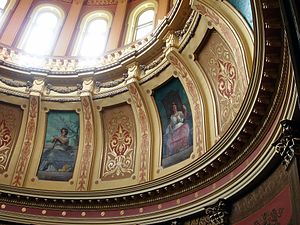 Michigan State Capitol, interior, a couple of ...