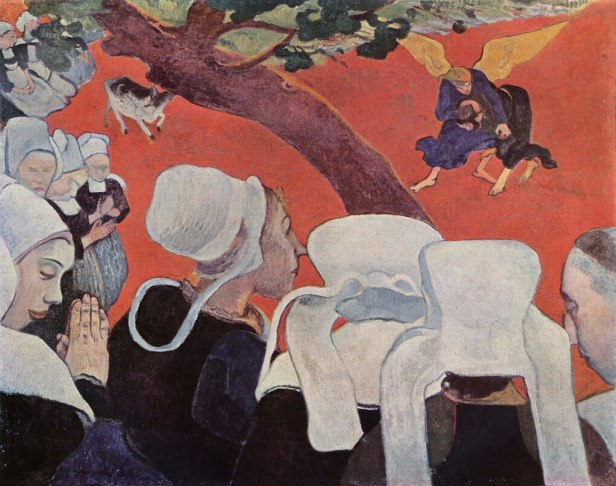 """""""Vision after the Sermon"""" by Paul Gauguin"""