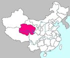 Location of Qinghai, China