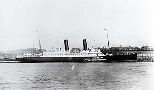 English: RMS Laconia at New York.