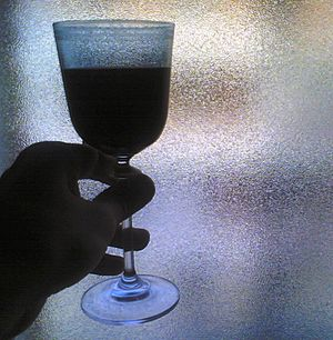 Red wine and a window