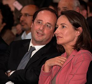 François Hollande and Ségolène Royal at a poli...