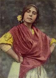 gitana española, 1917