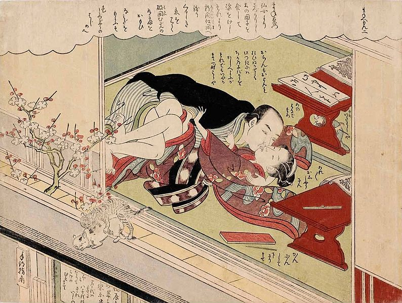 File:Suzuki Harunobu - Sexual Misconduct, From the book Fashionable, Lusty Mane'emon 1770.jpg